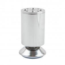 Опора мебельная регулируемая малая, 100 мм, Д60 Ш60 В100, хром