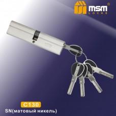Цил. Мех. MSM Перфо. Ключ-Ключ C130 Цвет: SN - Матовый никель