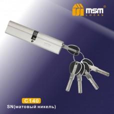 Цил. Мех. MSM Перфо. Ключ-Ключ C140 Цвет: SN - Матовый никель
