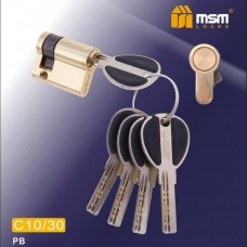 Цил. Мех. MSM Перфо. Ключ-Ключ C30/10 Цвет: PB - Золото