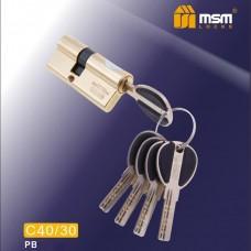 Цил. Мех. MSM Перфо. Ключ-Ключ C40/30 Цвет: PB - Золото