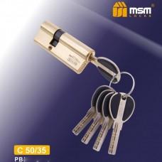 Цил. Мех. MSM Перфо. Ключ-Ключ C50/35 Цвет: PB - Золото