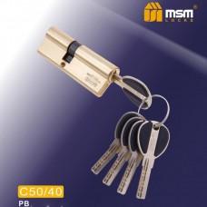 Цил. Мех. MSM Перфо. Ключ-Ключ C50/40 Цвет: PB - Золото