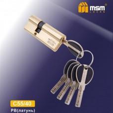 Цил. Мех. MSM Перфо. Ключ-Ключ C55/40 Цвет: PB - Золото
