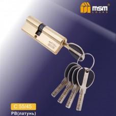 Цил. Мех. MSM Перфо. Ключ-Ключ C55/45 Цвет: PB - Золото