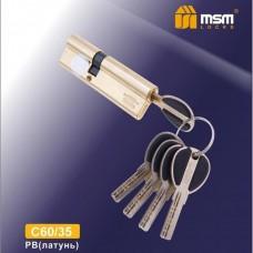 Цил. Мех. MSM Перфо. Ключ-Ключ C60/35 Цвет: PB - Золото