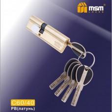Цил. Мех. MSM Перфо. Ключ-Ключ C60/40 Цвет: PB - Золото