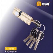 Цил. Мех. MSM Перфо. Ключ-Ключ C65/35 Цвет: PB - Золото