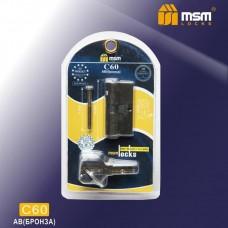 Цил. Мех. MSM Перфо. Ключ-Ключ C60 В блистере Цвет: AC - Медь