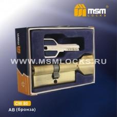 Цил. Мех. MSM Перфо. Ключ-вертушка CW80 Цвет: AB - Бронза