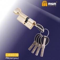 Цил. Мех. MSM Перфо. Ключ-вертушка CW40/30 Цвет: PB - Золото