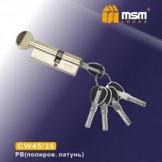 Цил. Мех. MSM Перфо. Ключ-вертушка CW45/35 Цвет: PB - Золото