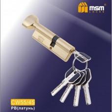 Цил. Мех. MSM Перфо. Ключ-вертушка CW55/45 Цвет: PB - Золото