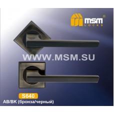Ручка на квадратной накладке MSM S640 Цвет: AB - Бронза