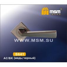 Ручка на квадратной накладке MSM S641 Цвет: AC - Медь