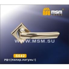 Ручка на квадратной накладке MSM S642 Цвет: PB - Золото