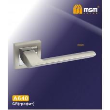 Ручка на квадратной накладке MSM A640 Цвет: GR - Графит