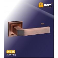 Ручка на квадратной накладке MSM A645 Цвет: AC - Медь
