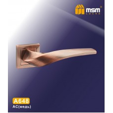 Ручка на квадратной накладке MSM A648 Цвет: AC - Медь