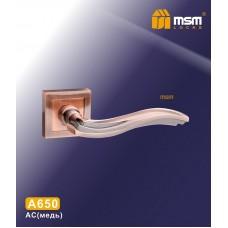 Ручка на квадратной накладке MSM A650 Цвет: AC - Медь