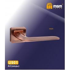 Ручка на квадратной накладке MSM U901 Цвет: AC - Медь