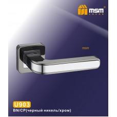 Ручка на квадратной накладке MSM U903 Цвет: BN/CP - Чёрный никель/Хром
