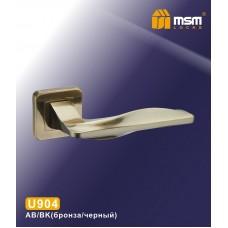 Ручка на квадратной накладке MSM U904 Цвет: AB/BK - Бронза/Чёрный
