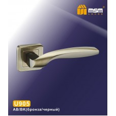 Ручка на квадратной накладке MSM U905 Цвет: AB/BK - Бронза/Чёрный
