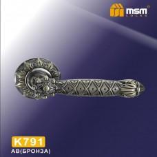 Ручка на круглой накладке K791 Цвет: AB - Бронза