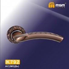 Ручка на круглой накладке K792 Цвет: AC - Медь