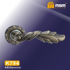 Ручка на круглой накладке K794 Цвет: AB - Бронза