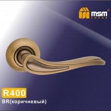 Ручка на круглой накладке R400 Цвет: MBR - Матовый коричневый