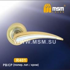 Ручка на круглой накладке R401 Цвет: PB/CP - Золото/Хром