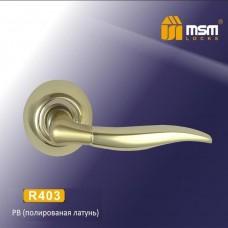 Ручка на круглой накладке R403 Цвет: PB/SB - Золото/матовое золото