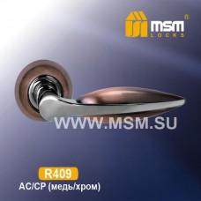 Ручка на круглой накладке R409 Цвет: AC/CP - Медь/Хром