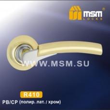 Ручка на круглой накладке R410 Цвет: PB/CP - Золото/Хром