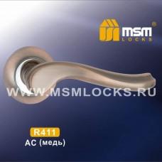 Ручка на круглой накладке R411 Цвет: AC - Медь