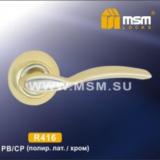 Ручка на круглой накладке R416 Цвет: PB/CP - Золото/Хром