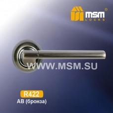 Ручка на круглой накладке R422 Цвет: AB - Бронза