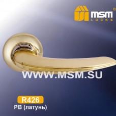 Ручка на круглой накладке R426 Цвет: PB - Золото