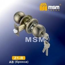 Ручка защёлка (шариковая) MSM Z1-R Цвет: AB - Бронза