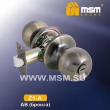 Ручка защёлка (шариковая) MSM Z1-A Цвет: AB - Бронза