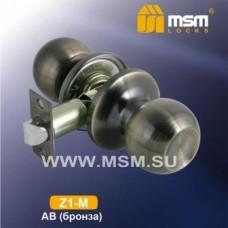 Ручка защёлка (шариковая) MSM Z1-M Цвет: AB - Бронза