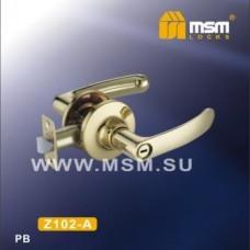 Ручка защелка (фалевая) MSM Z102-A Цвет: PB - Золото