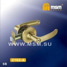 Ручка защелка (фалевая) MSM Z102-A Цвет: SB - Матовое золото