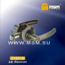 Ручка защелка (фалевая) MSM Z102-A Цвет: AB - Бронза