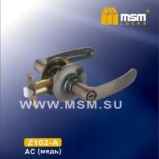 Ручка защелка (фалевая) MSM Z102-A Цвет: AC - Медь