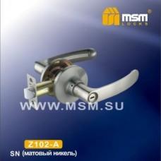 Ручка защелка (фалевая) MSM Z102-A Цвет: SN - Матовый никель