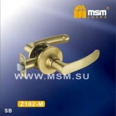 Ручка защелка (фалевая) MSM Z102-M Цвет: SB - Матовое золото