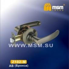 Ручка защелка (фалевая) MSM Z102-M Цвет: AB - Бронза
